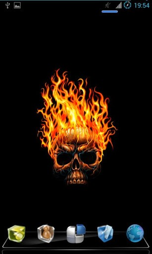 View bigger   Fire Skull Live Wallpaper for Android screenshot 307x512