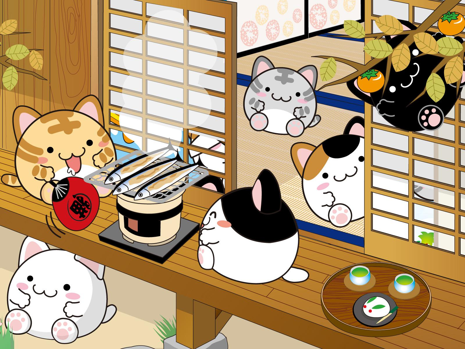 Cute japanese wallpaper wallpapersafari - Cute asian cartoon wallpaper ...
