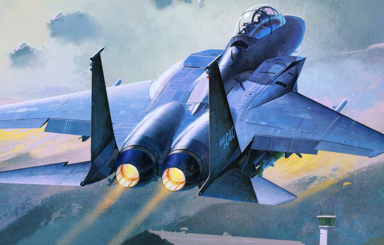 Wallpaper figure the rise fighter bomber Republic of Korea Air 1332x850