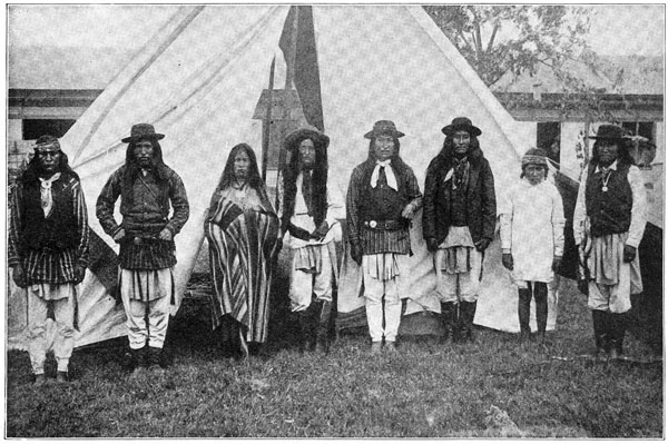 Apache Indians Group of Apaches at the Time of Their Surrender 600x399