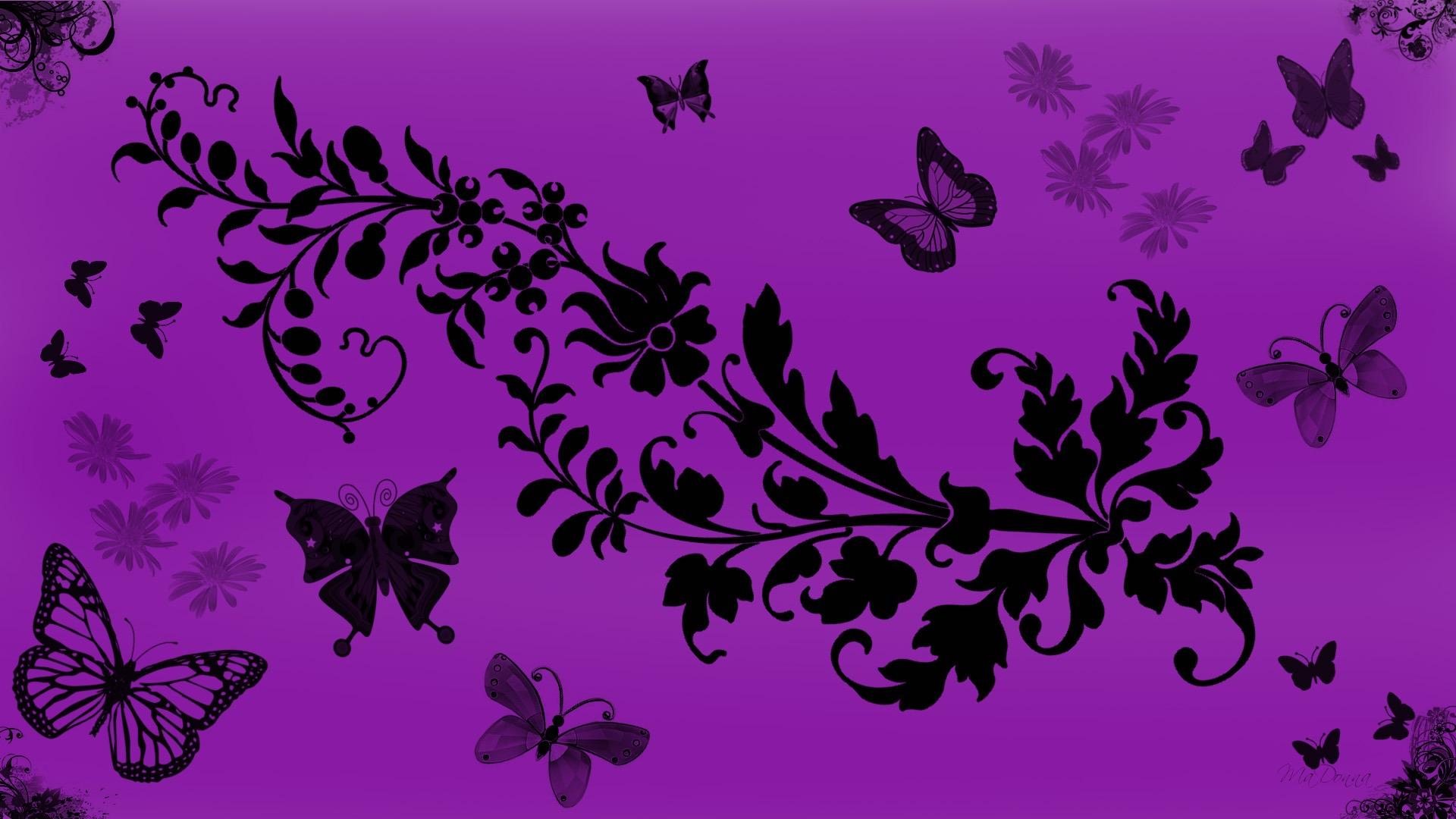 Purple Butterfly Desktop Wallpaper - WallpaperSafari