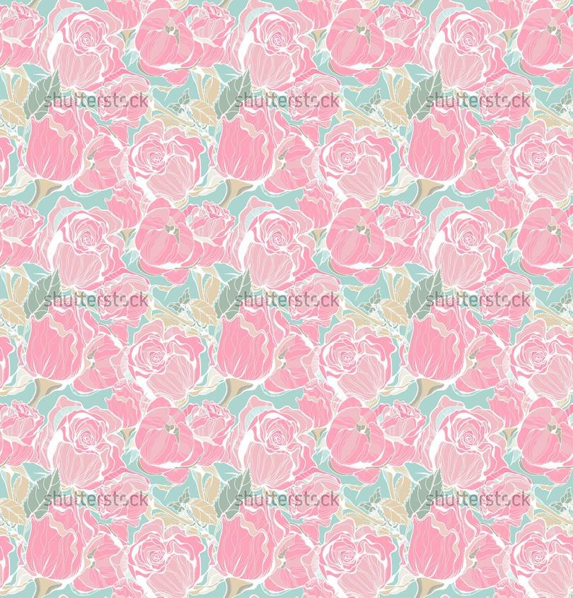 Pink Vintage Wallpaper Background