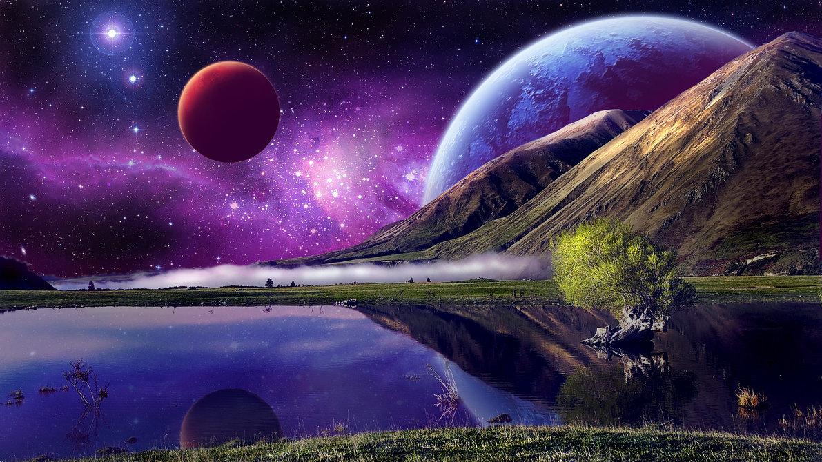 78] Desktop Space Backgrounds on WallpaperSafari 1191x670