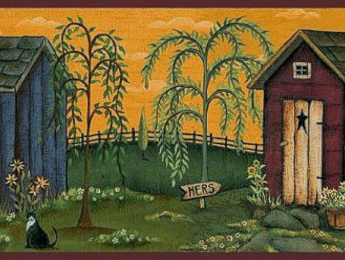 Primitive Country Wallpaper And Borders Background Wallpapers 1100x829