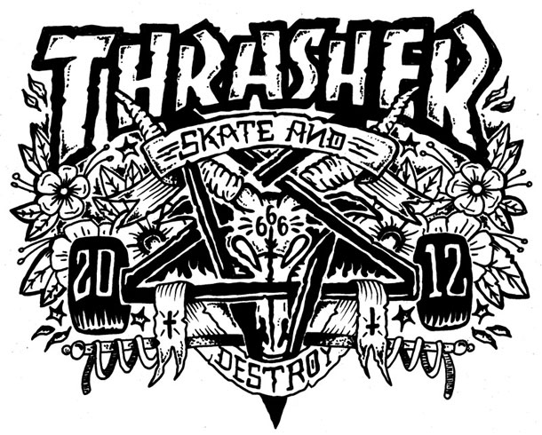 Thrasher Skateboarding Thrasher skateboard magazine 610x490