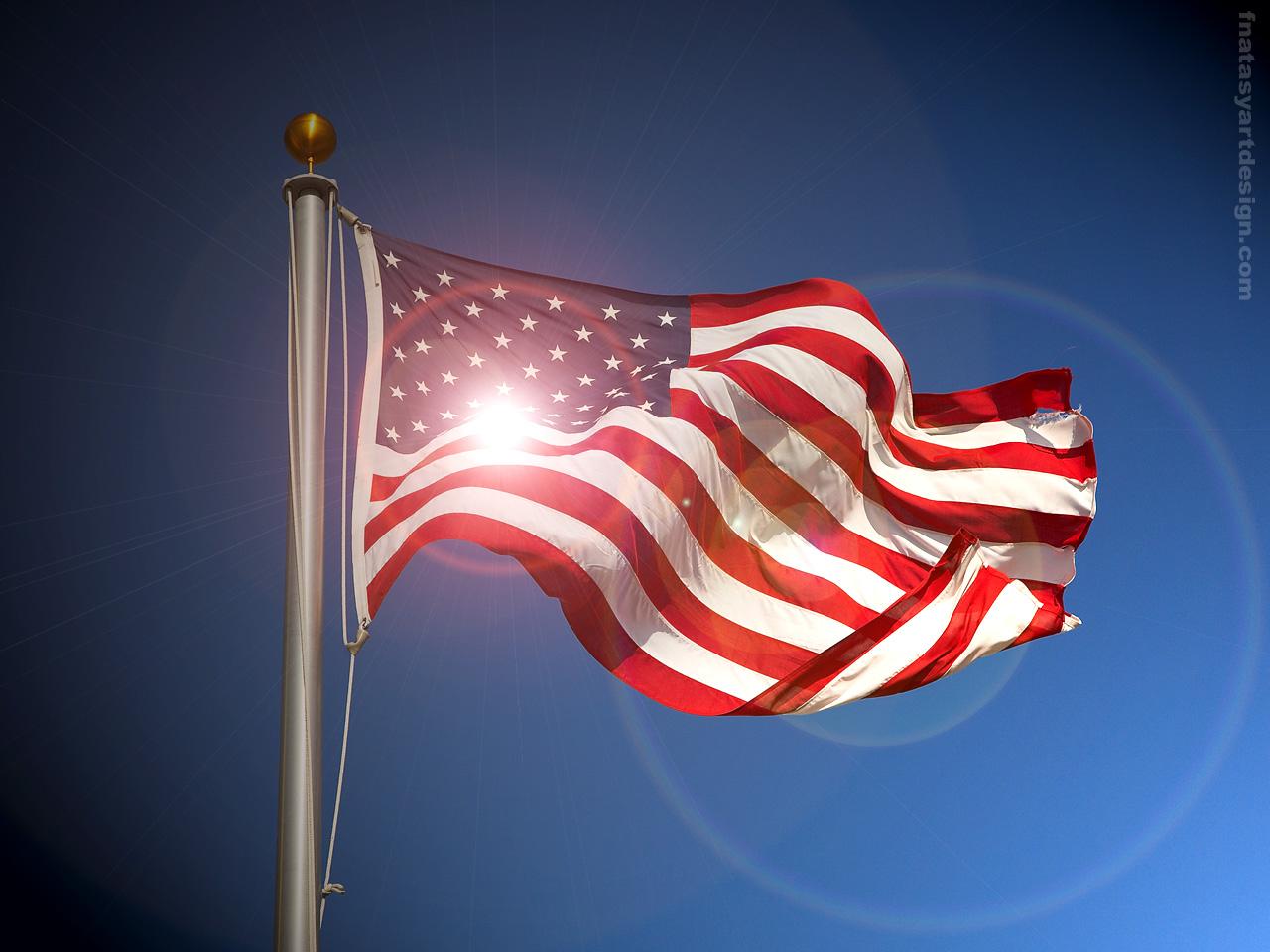 American flag desktop sunrise Photo Manipulation Abstract 1280x960