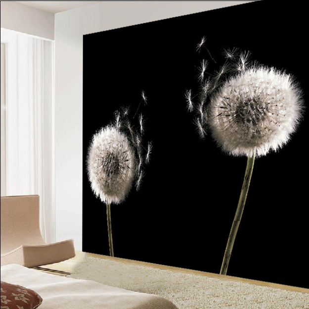 living room wallpaper wallpaper abstract black and white dandelion 625x624