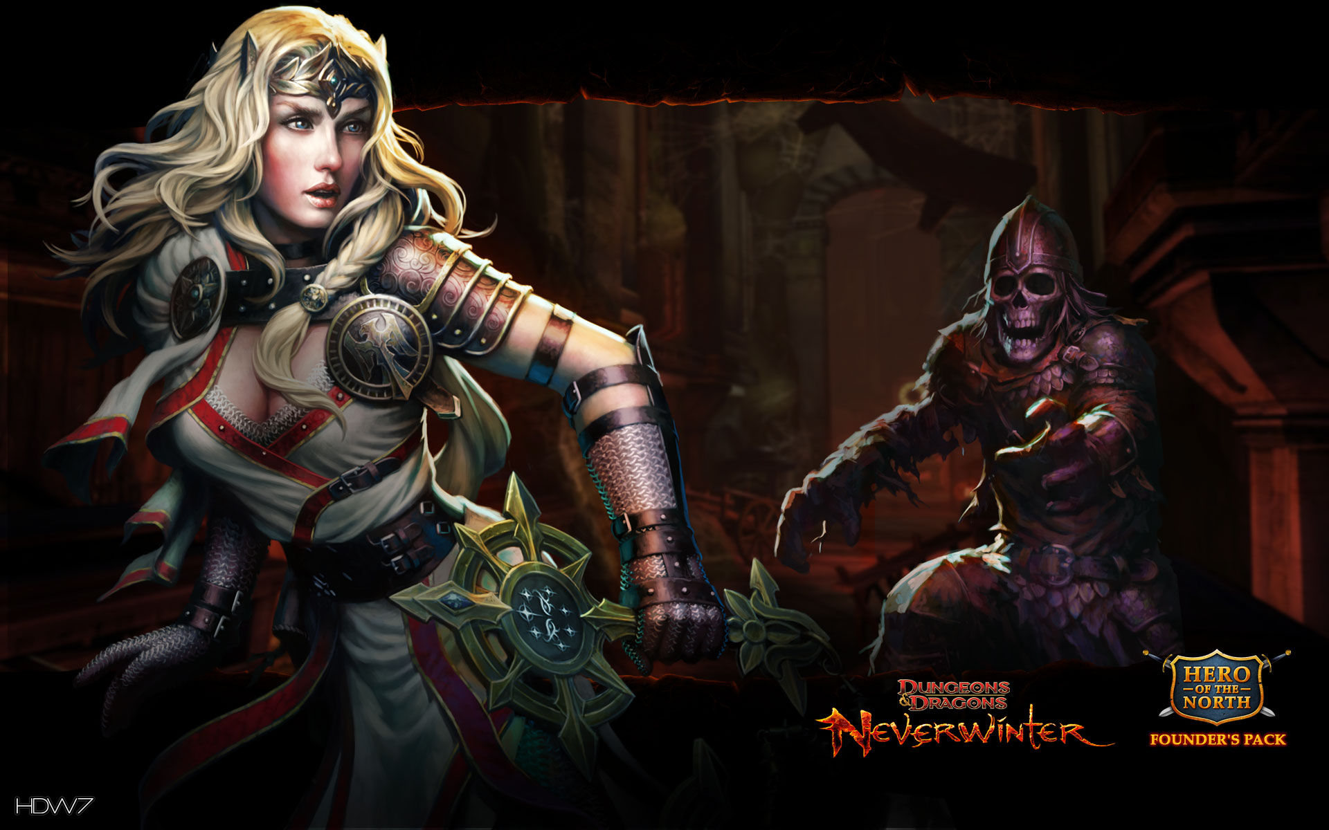 dungeons and dragons neverwinter devoted cleric widescreen wallpaper 1920x1200