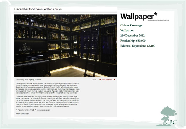 December 2012 The Whisky Shop on Wallpaper Wallpaper magazine 736x510