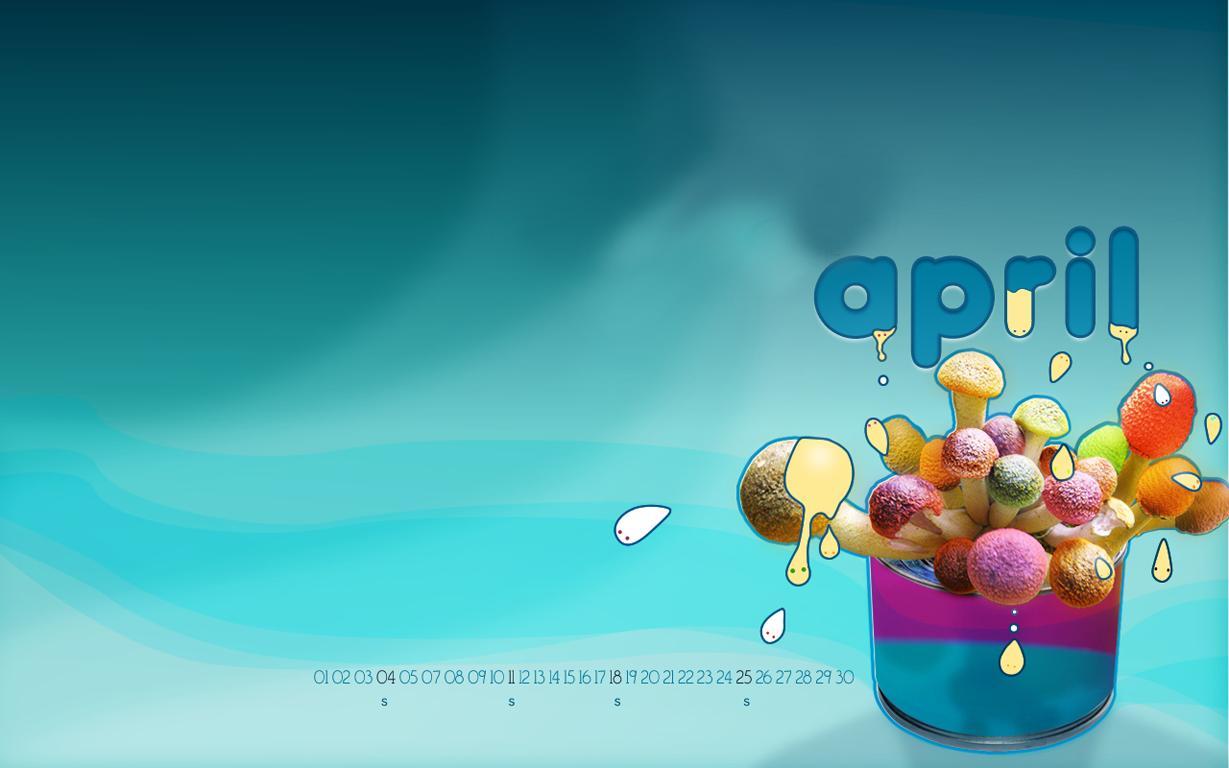 Sweetmeat April Calendar Wallpaper 78154 1229x768