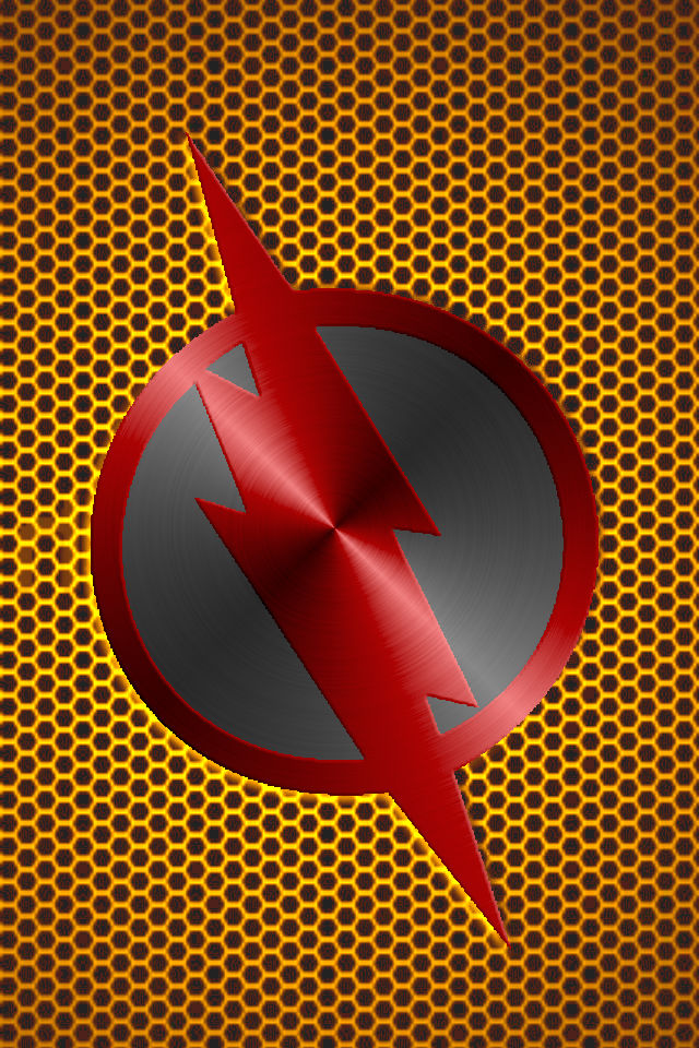 Metalic Reverse Flash Background by KalEl7 640x960