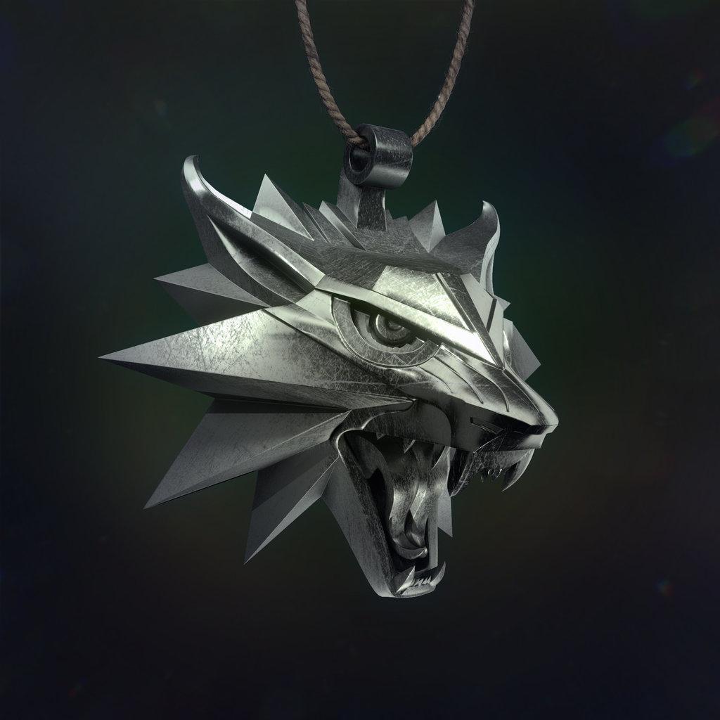 The Witcher Medallion by FabianDAbundo 1024x1024