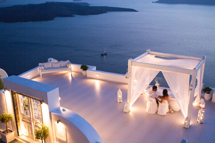 Unique Luxury Stays UK Santorini Weddings 898x598