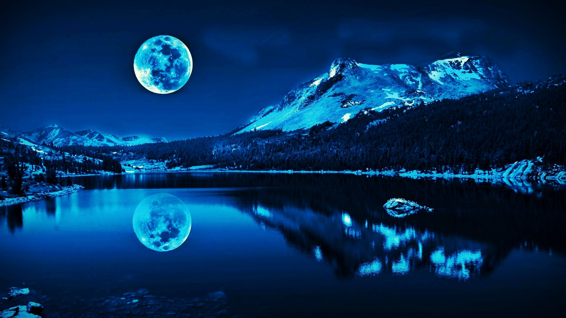 Super Moon Blue Wallpaper Wallsevcom   Download HD 1920x1080