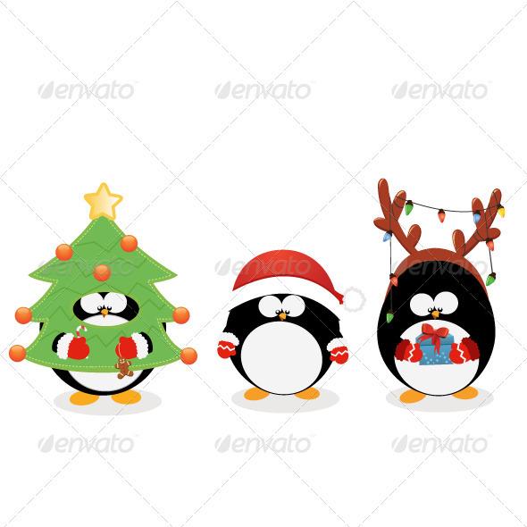 Christmas Penguin Wallpaper - WallpaperSafari Cute Christmas Penguin Wallpaper
