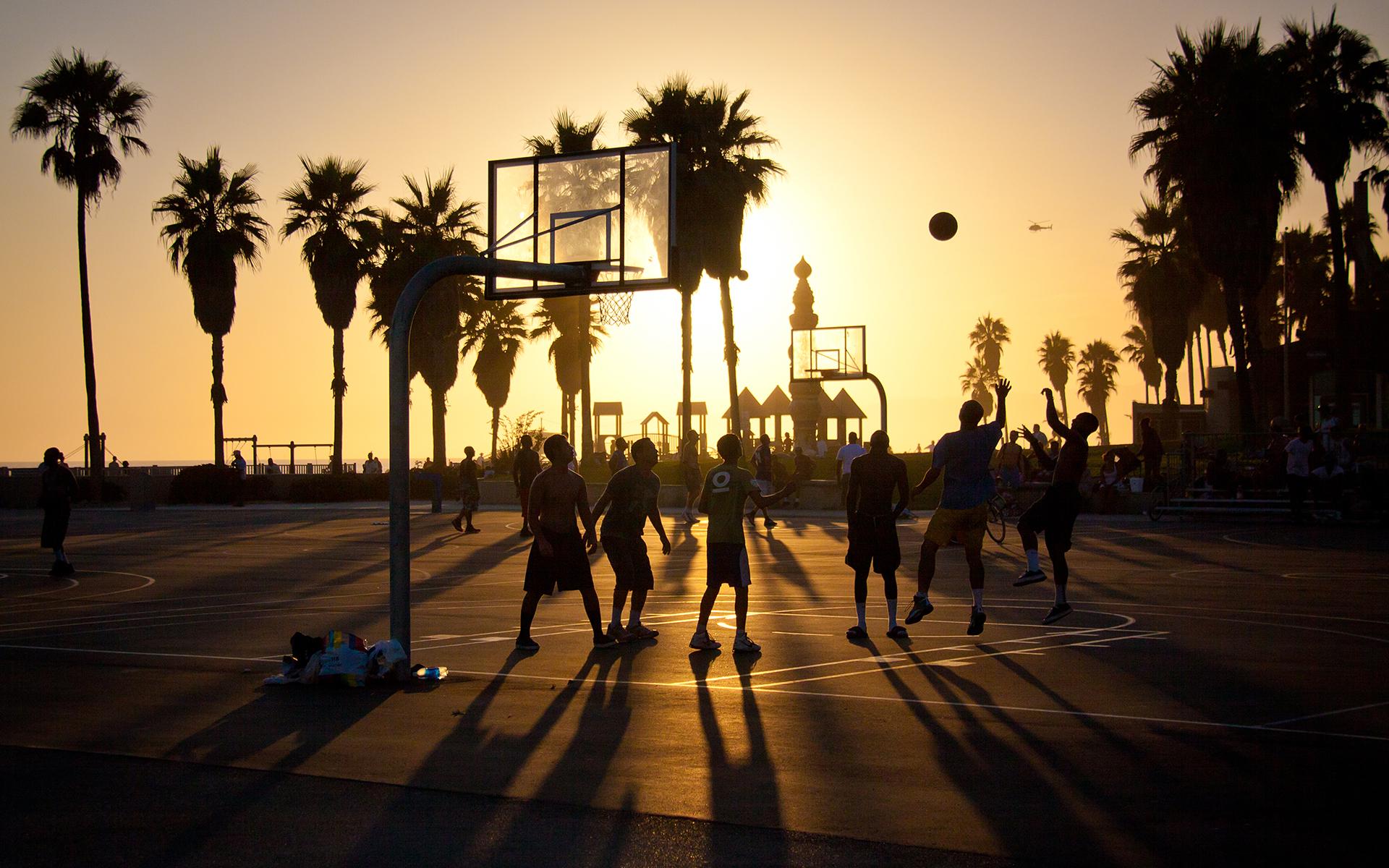 Download wallpaper summer california basketball sunset usa 1920x1200