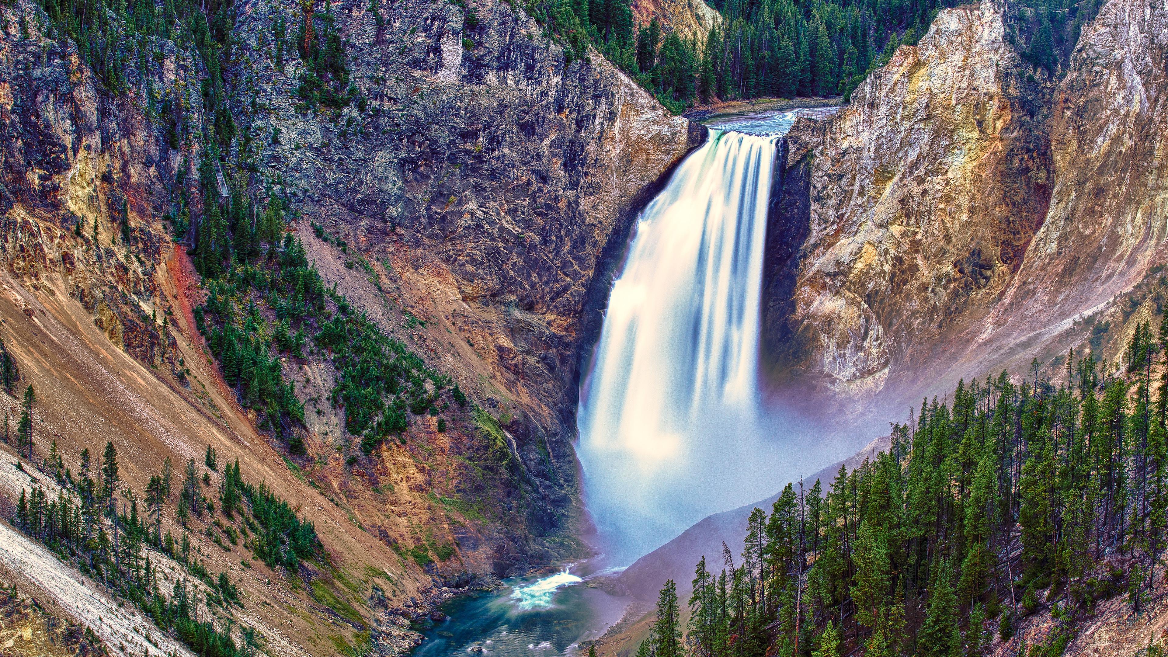 River Waterfall 4K Desktop Wallpaper Uploaded by DesktopWalls 3840x2160