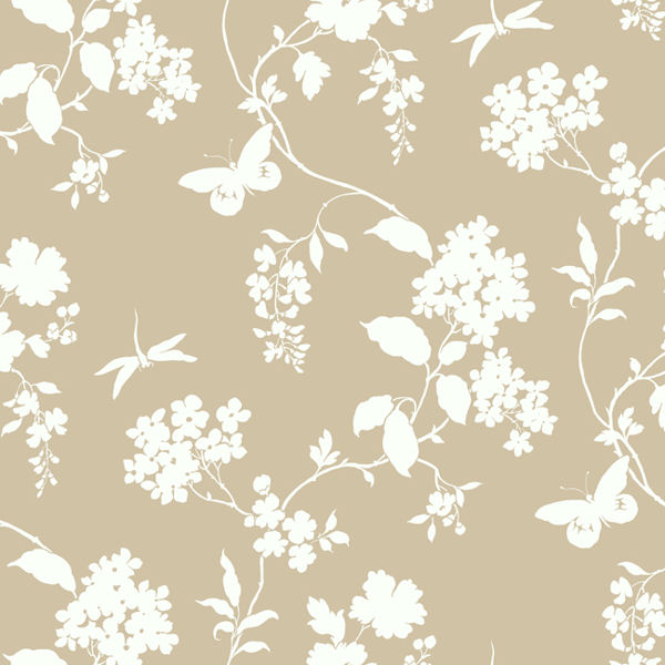 Beige Scenic Vines Wallpaper   Wall Sticker Outlet 600x600