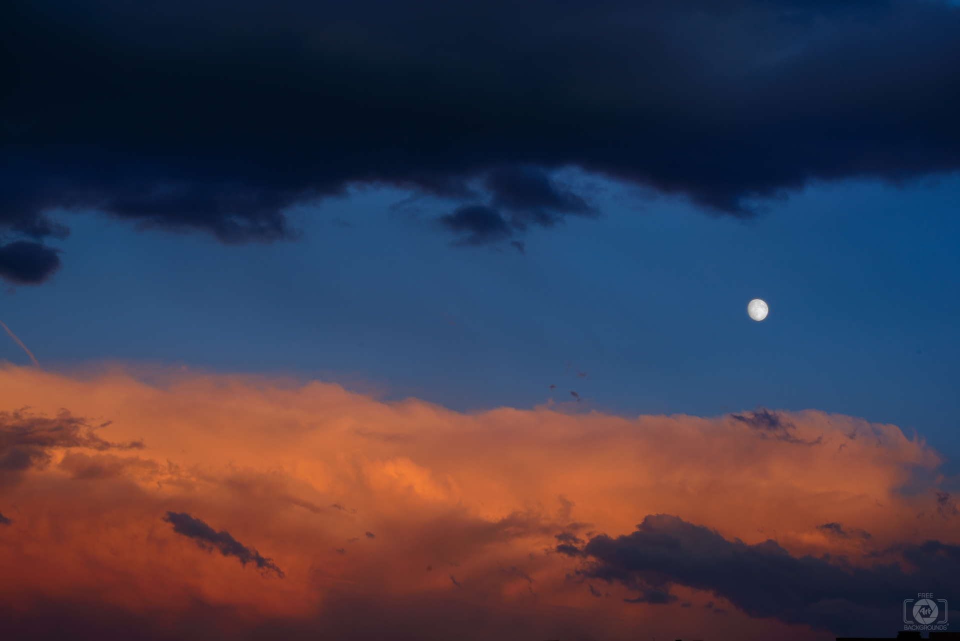 Evening Sky and Moon Background   High quality Backgrounds 1920x1281