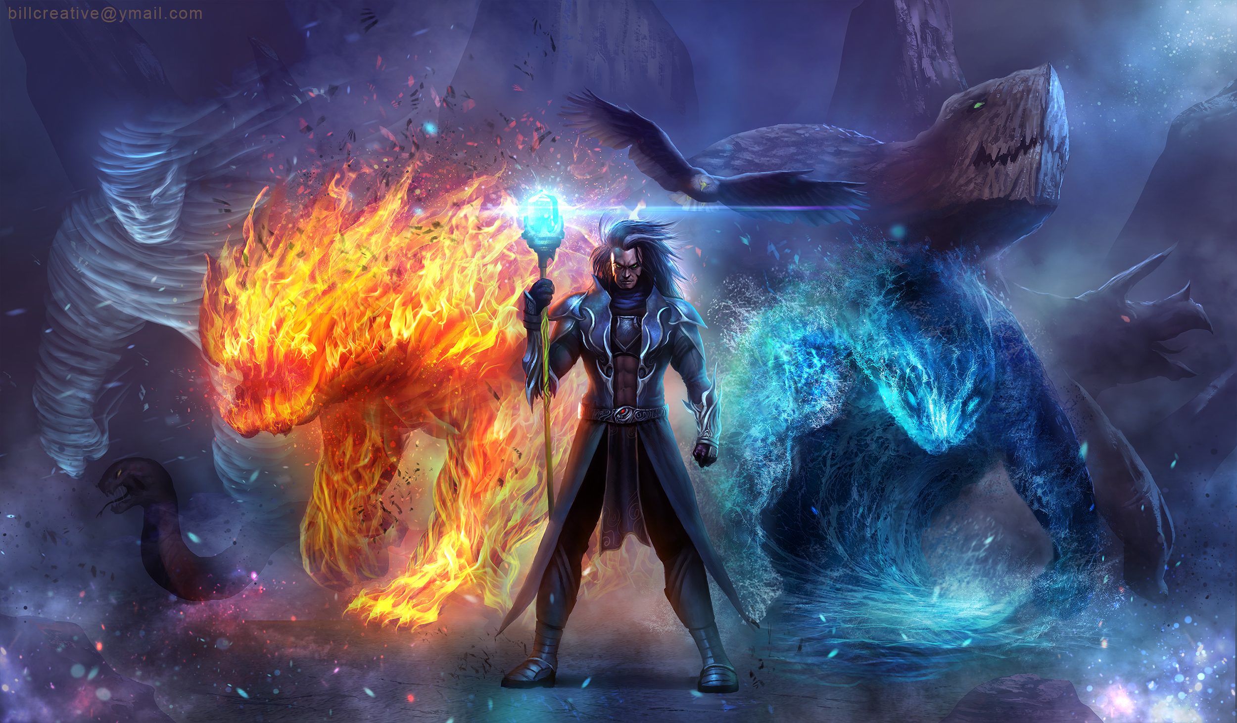 Elemental Summoner HD Wallpaper Background Image 2500x1462 2500x1462