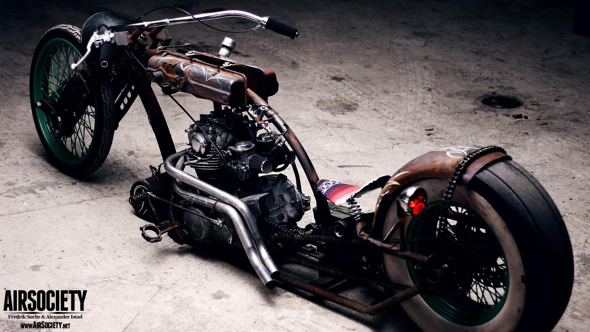 bagged rust motorcycle chopper yamaha xs650 wallpaper 008jpg 1920x1080
