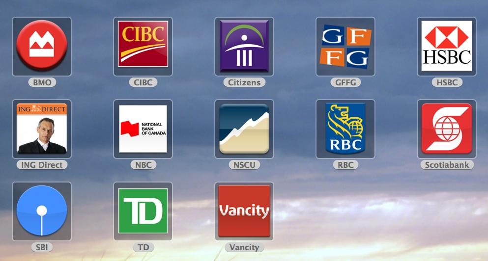 Canadian Bank Logos by jasonh1234 993x532