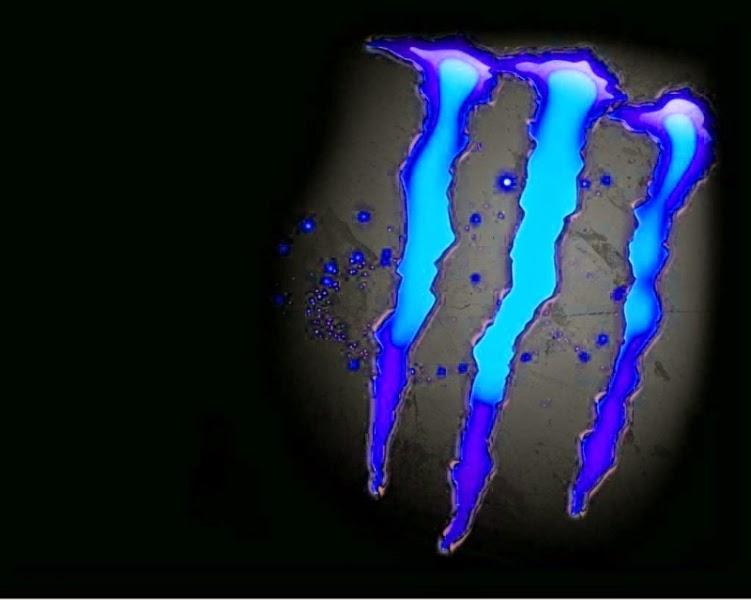 Monster Energy Logo Blue Dark Wallpaper 751x600