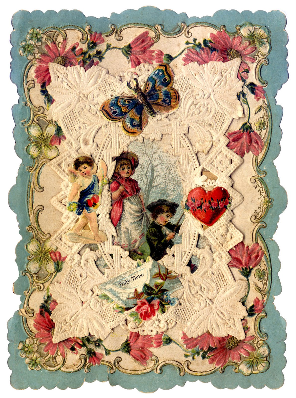Antique Valentines   Bunnies Birds and Butterflies   The Graphics 1190x1600