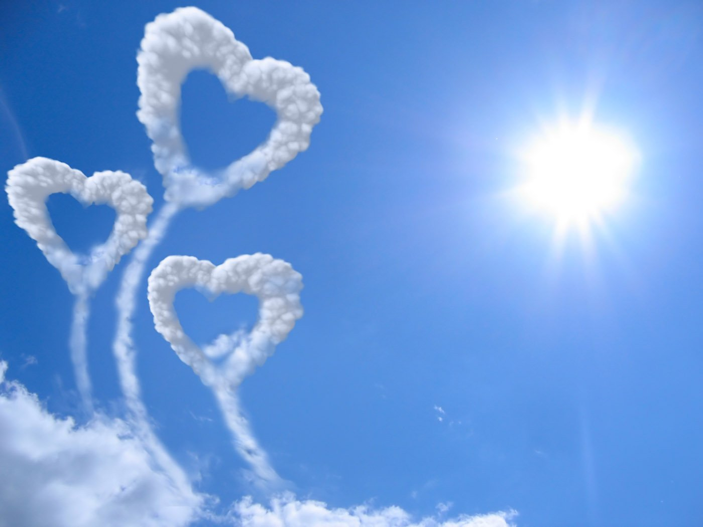 Free Download Day Heart Shaped Cloud Wallpapers Art For Your