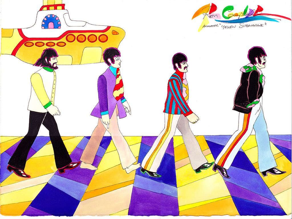 The Beatles Yellow Submarine Wallpaper Led zeppelin a 1024x768