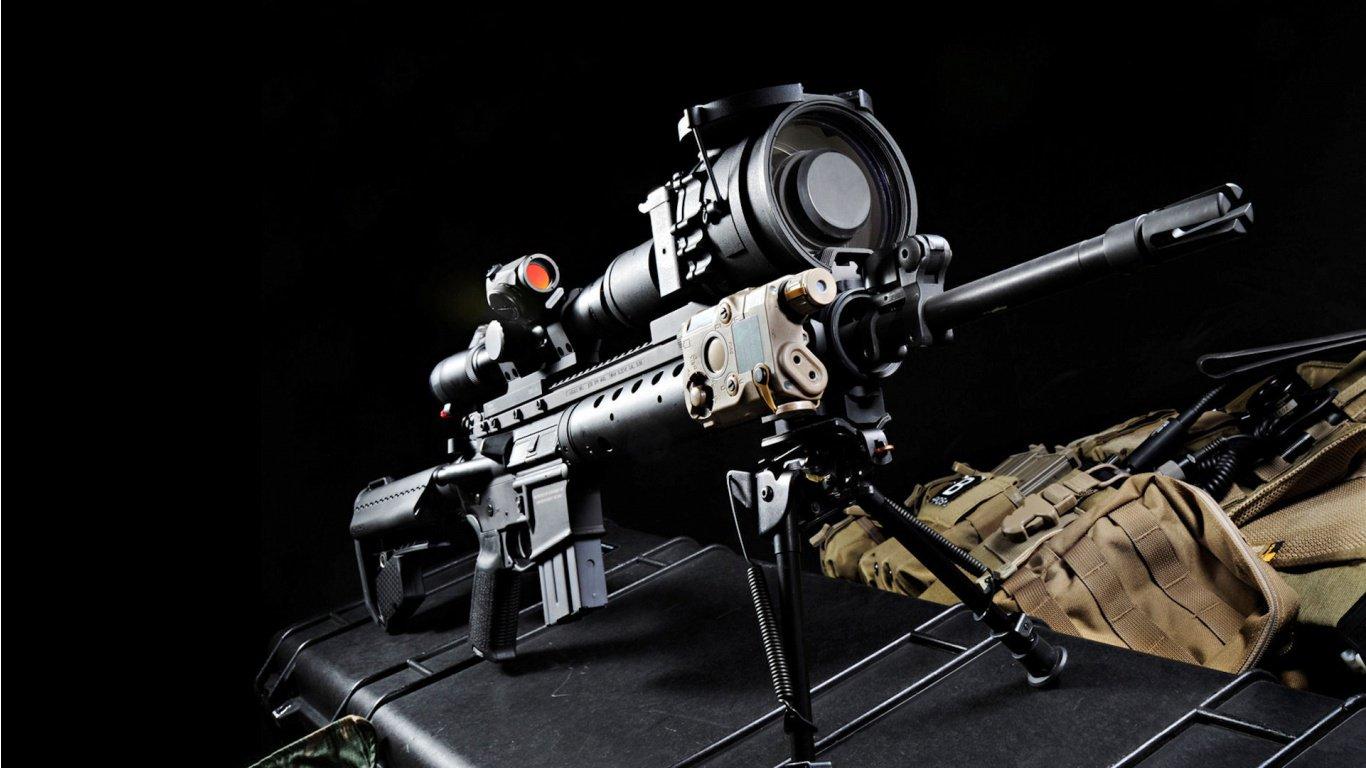 Machine Gun HD Wallpaper Slwallpapers 1366x768
