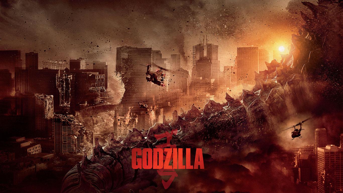 Godzilla Movie 2014 HD iPhone iPad Wallpapers 1366x768