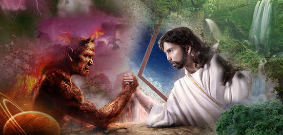 Jesus vs Satan Wallpaper - WallpaperSafari