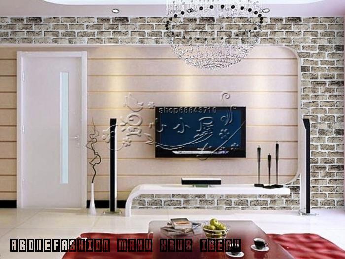 PVC Adhesive Wallpaper Pastel Bedroom Brick Pattern Background Sticky 700x526