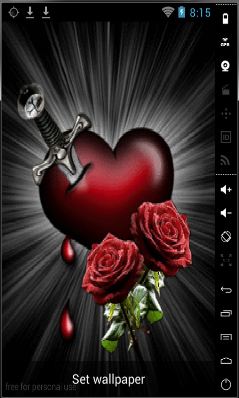 Download Bleeding Heart Live Wallpaper for your Android phone 480x800