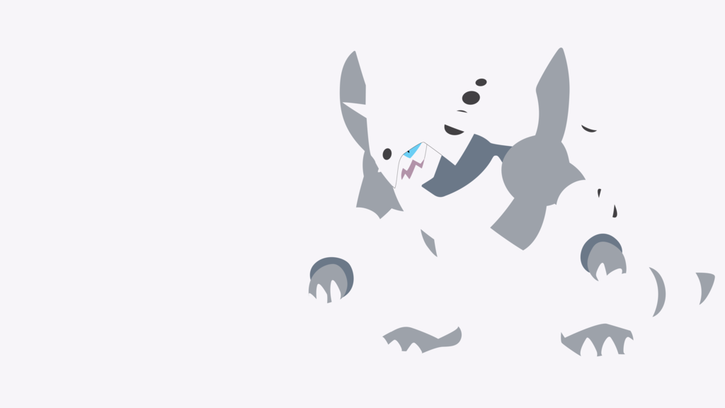 Mega Aggron Minimalist Wallpaper by BrulesCorrupted on 1024x576