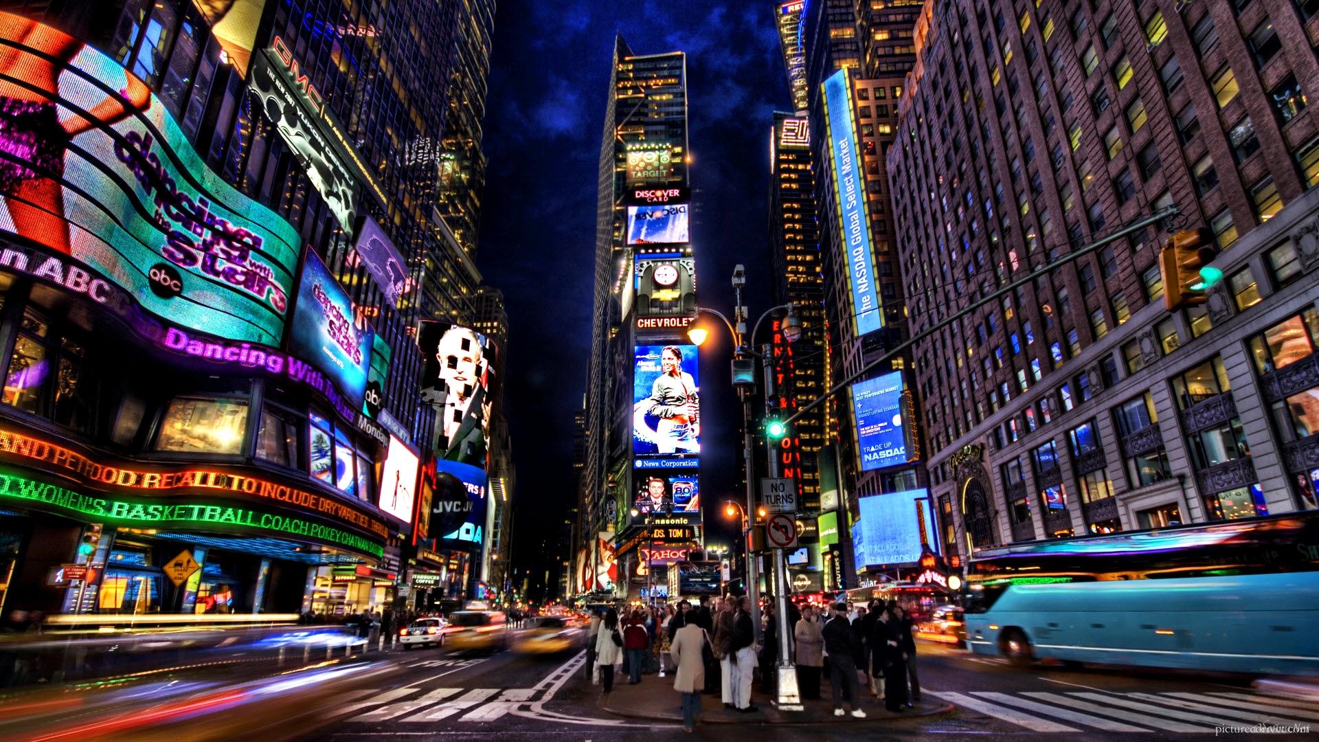 New York City at night wallpaper HD Desktop Wallpaper 1920x1080