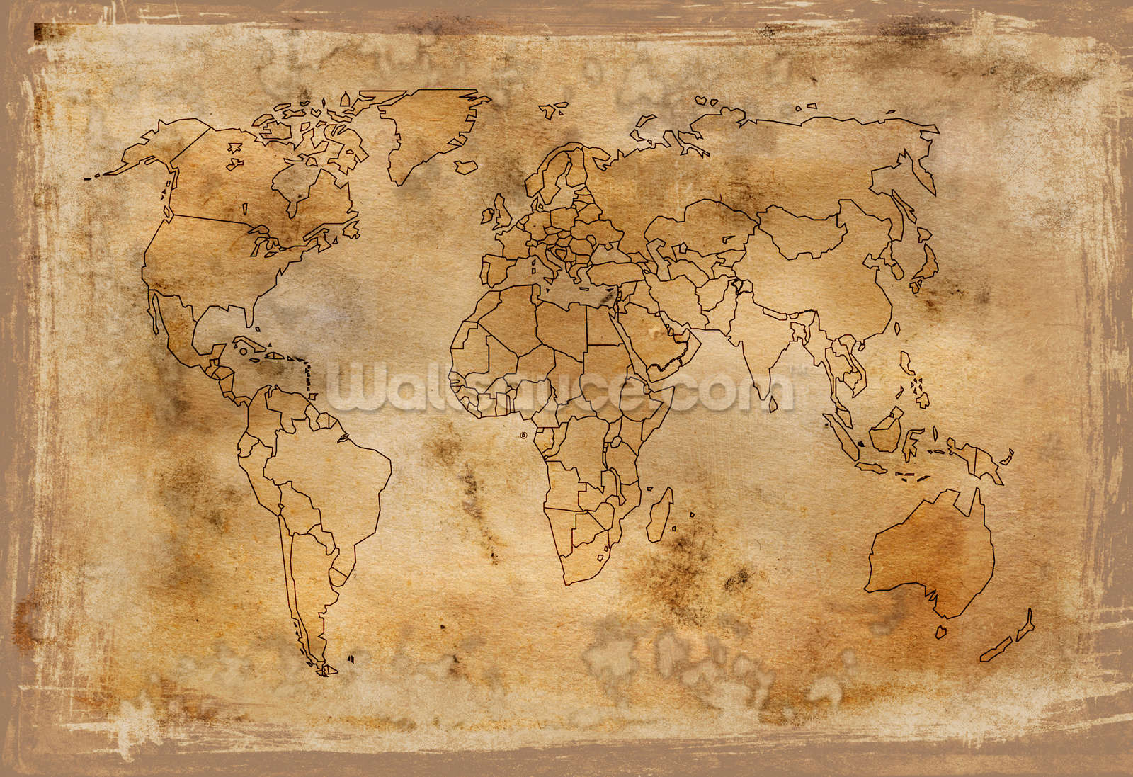 Old Map Wall Mural Old Map Wallpaper 1600x1097