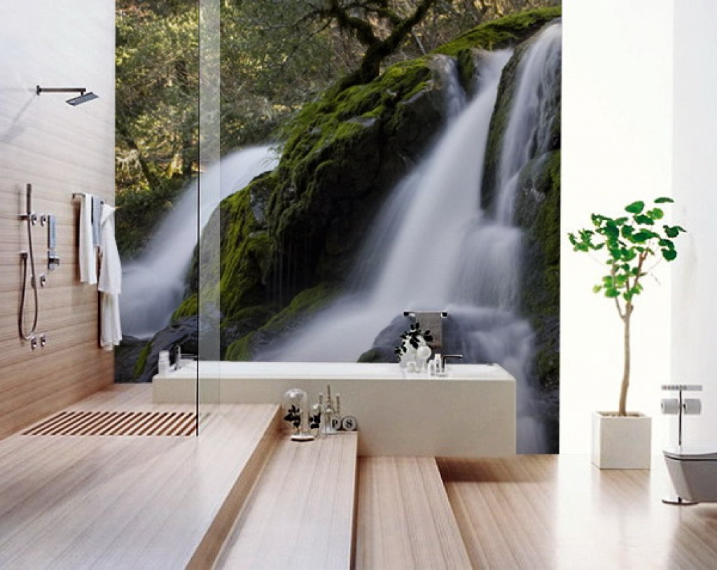 Free Download Modern Bathroom Photo Wall Murals Ideas Best Wall Murals Gallery And 1024x814 For Your Desktop Mobile Tablet Explore 49 Designer Wallpaper Murals Trendy Wallpaper For The Home