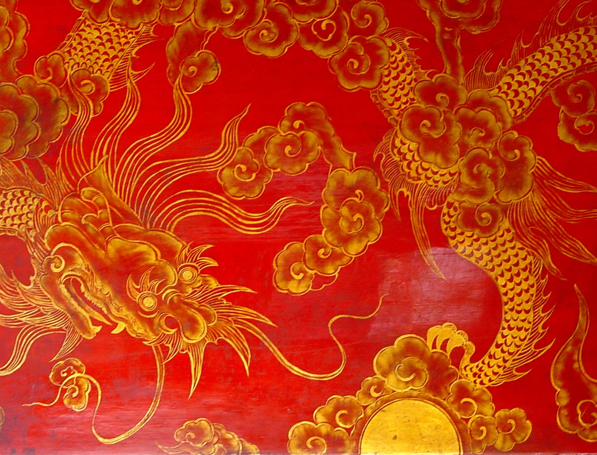 Feng Shui Bedroom Art Red Oriental Wallpaper Wallpapersafari