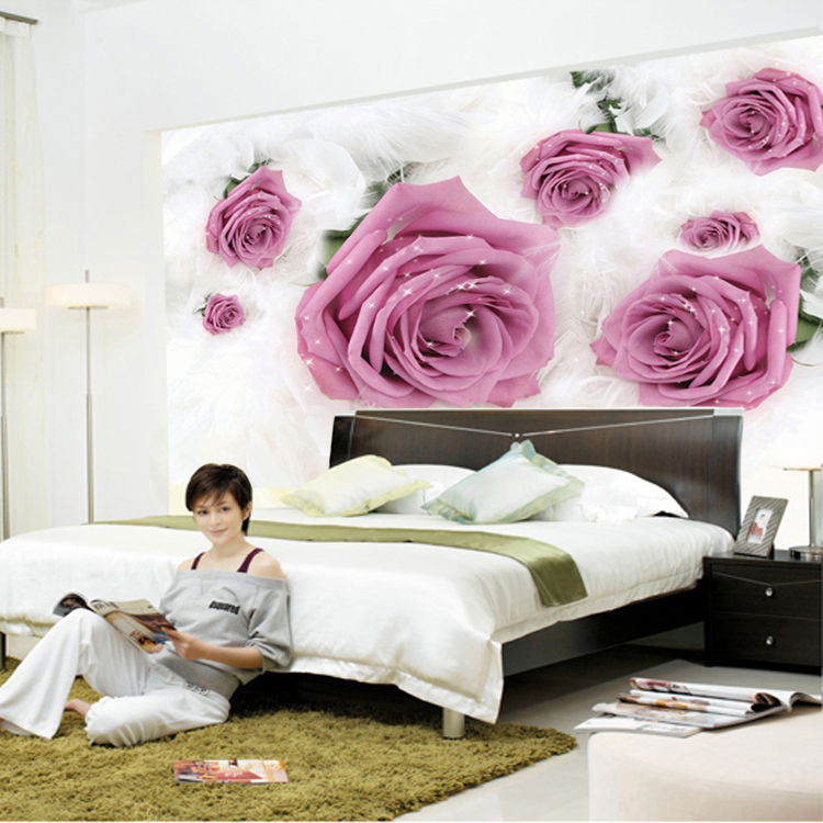 Large custom wallpaper mural bedroom living room sofa TV wall mural 750x750