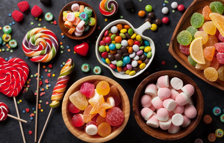 Wallpaper lollipops confetti marmalade marshmallows images for 1332x850