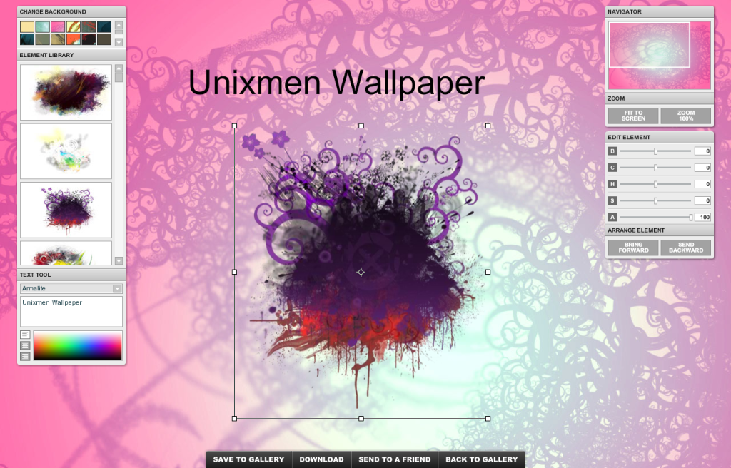 Create your own wallpapers online with X3Studios   Unixmen 1024x656