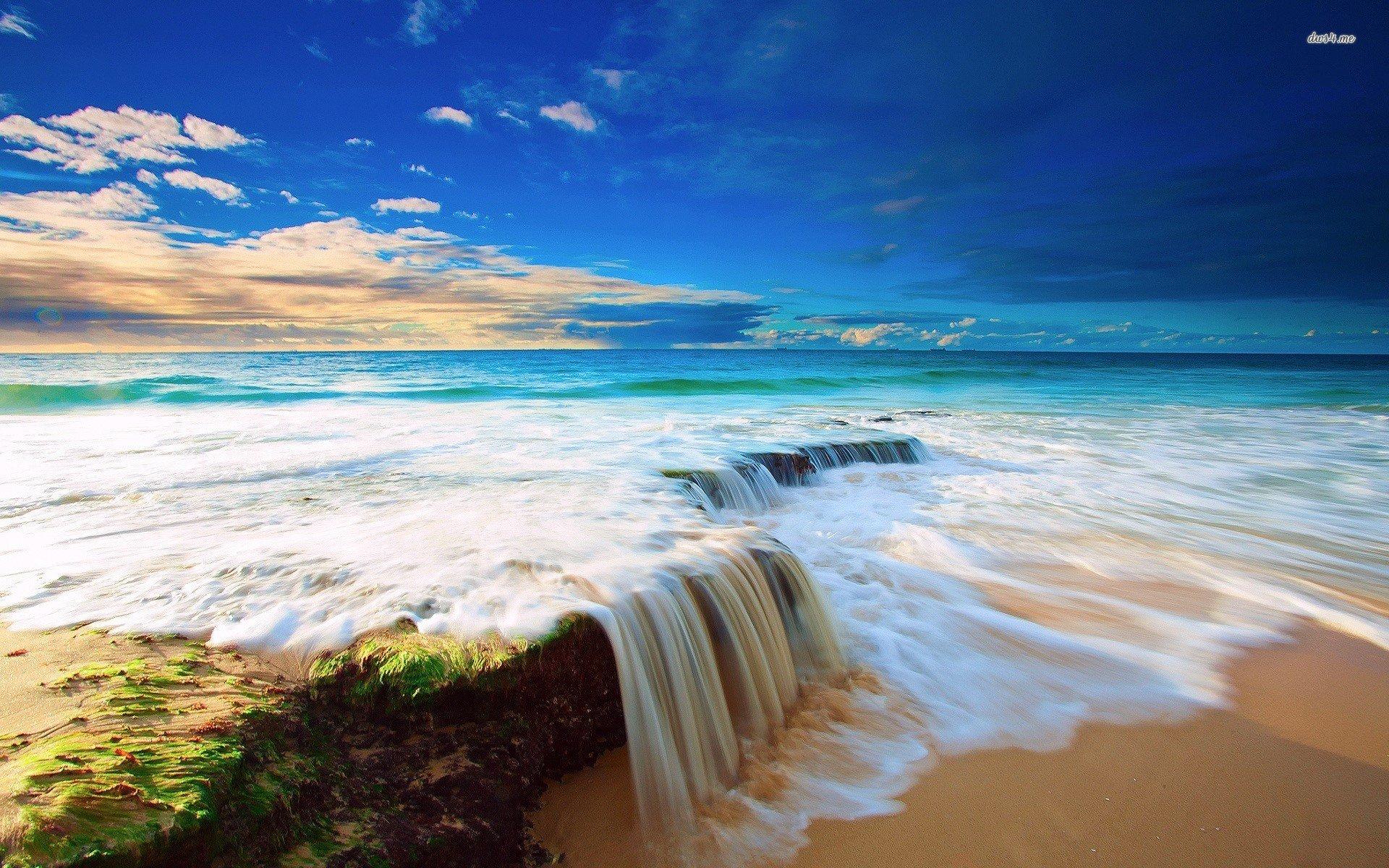 Ocean Wave Desktop Wallpaper - WallpaperSafari