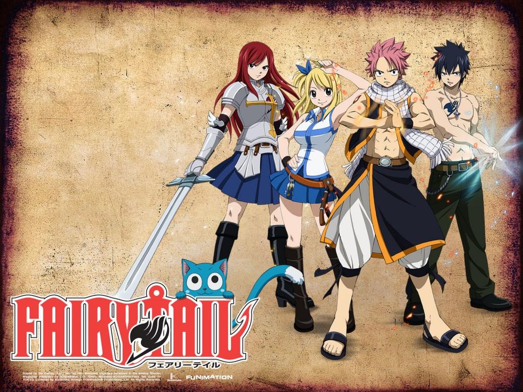 Team Natsu Wallpaper Fairy Tail HD Wallpaper 1024x768