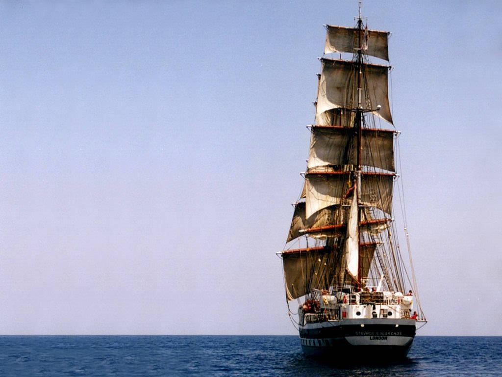 Download Wallpapers Backgrounds   Tall Ships Monitor Sailing 1024x768