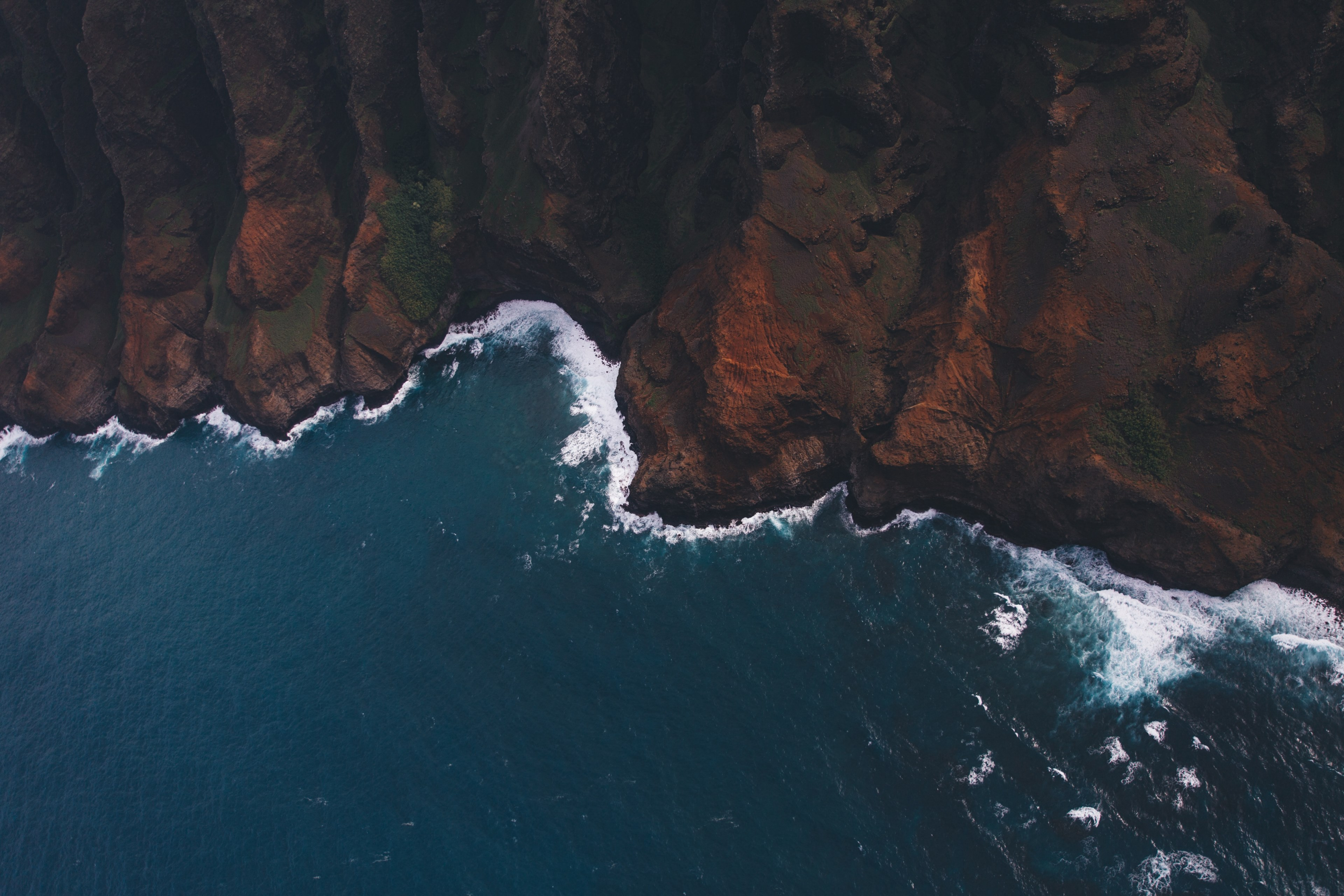 coast aerial view water and sea hd 4k wallpaper and background 3840x2560