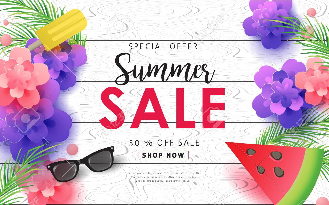 Summer Sale Background Layout For BannersWallpaperflyers 1300x810