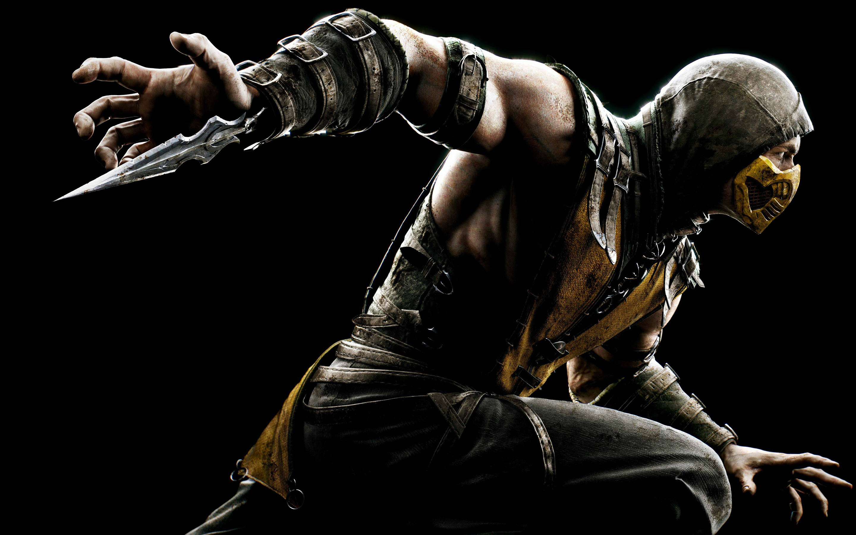 Download Mortal Kombat X Scorpio HD Wallpaper 6667 Full Size 2880x1800