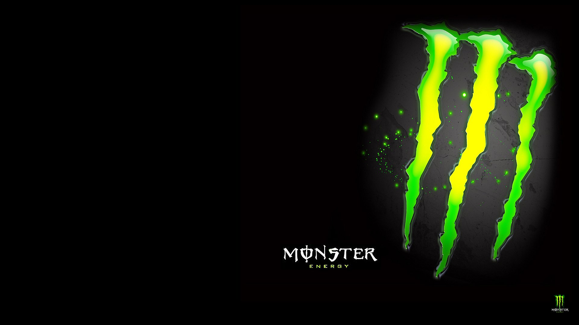 monster logo green wallpaper wwwimgkidcom the image
